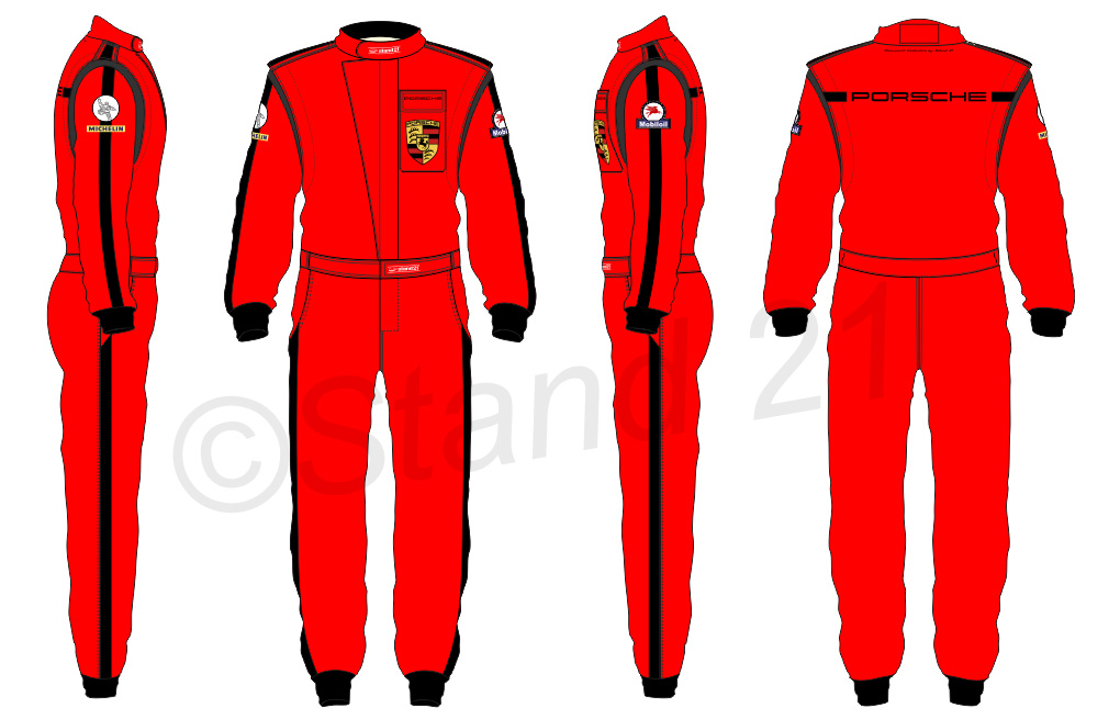 Porsche Rennsport red design suit