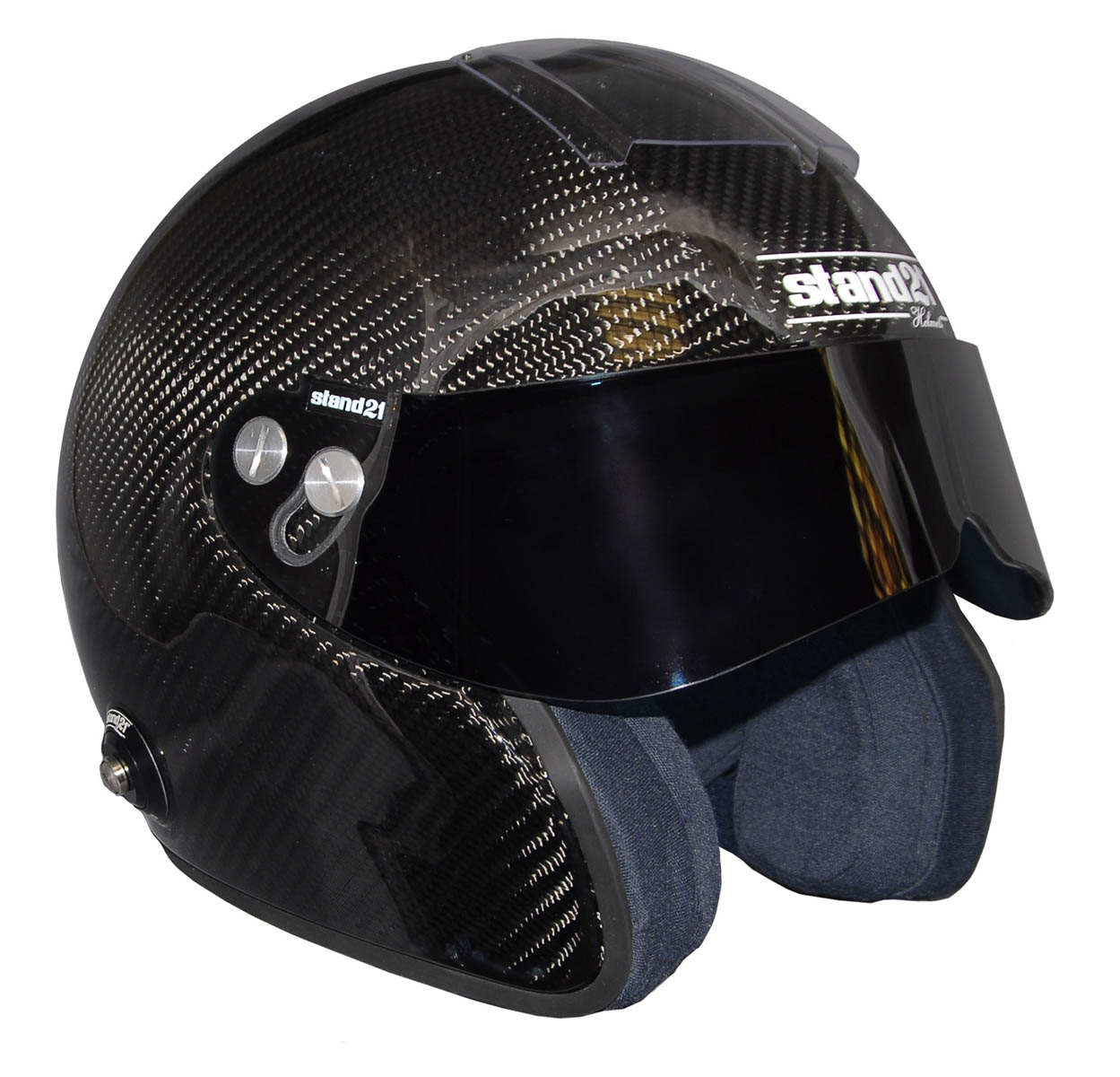Stock IVOS Open Face Double Duty helmet with visor