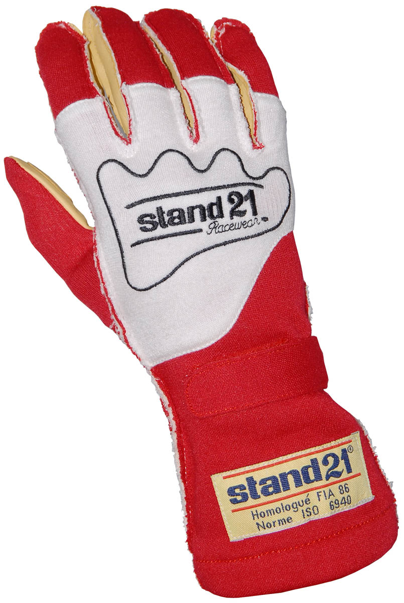 Stock red Carrera - Outside Seams gloves